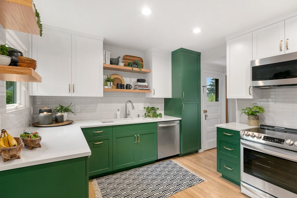 portland kitchen - green kitchen cabinets - classic kitchen design - kitchen trends